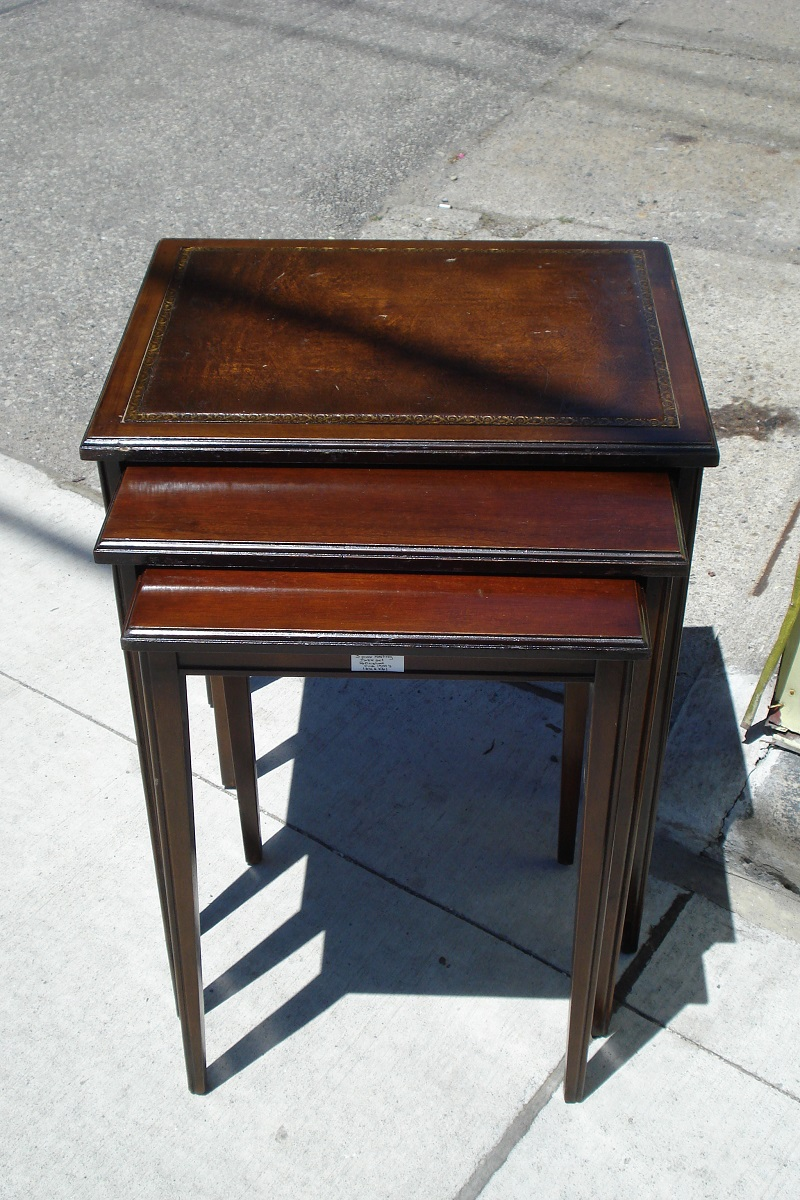 Item # 1061 3 Piece Nesting Table Set Refinished. Circa 1900u0027s $125.00